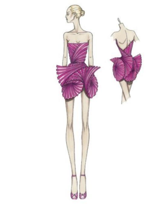 разработка эскизов одежды: